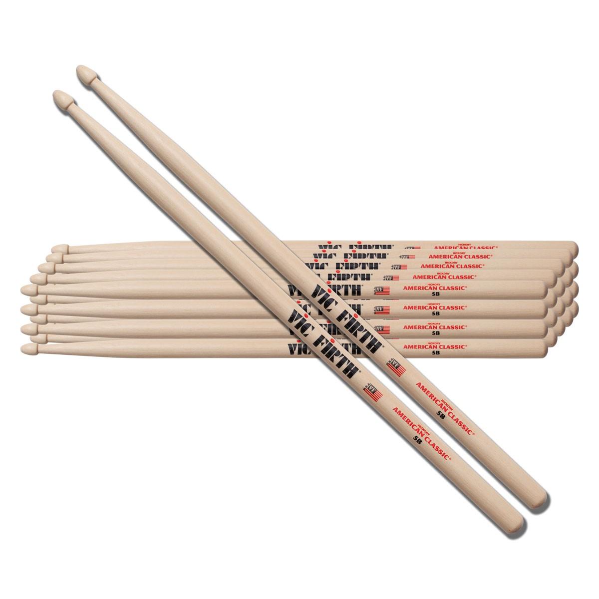 Vic-Firth 5B Sticks American Classic Wood Tip